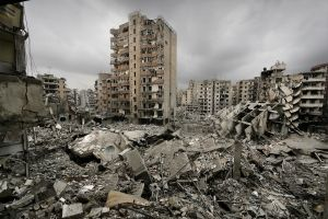 Destruction in Beirut, Lebanon, August 2006. Marco Di Lauro/http://www.marcodilauro.com/
