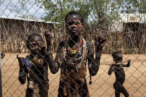 Resettled Ethiopian villagers.